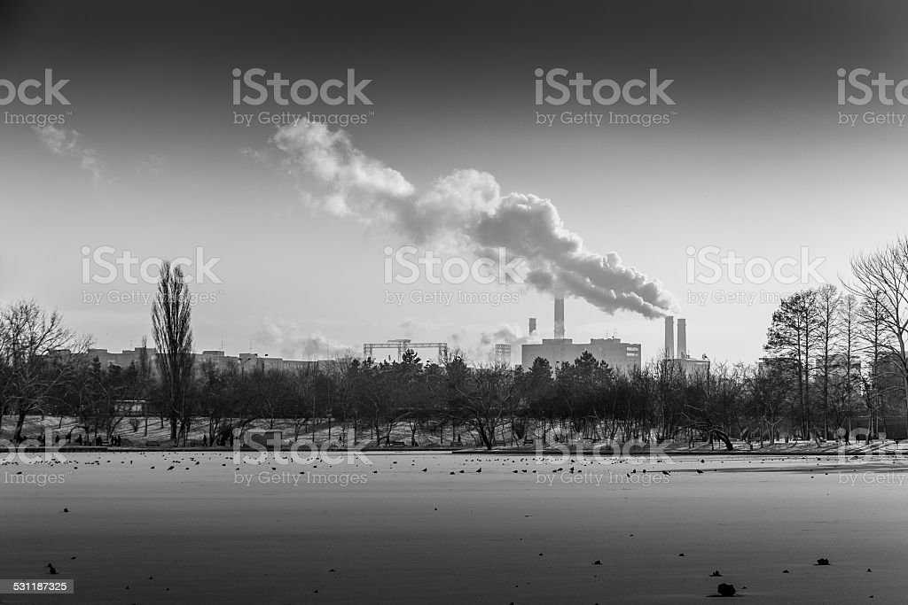 Industrial smoke stock photo