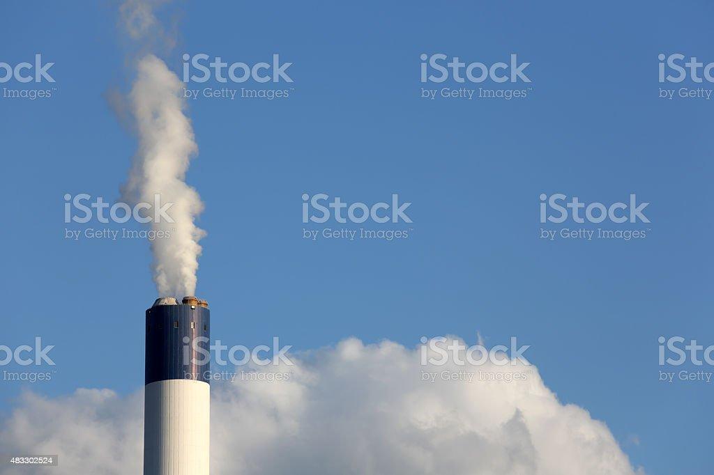 Industrial smoke stack stock photo