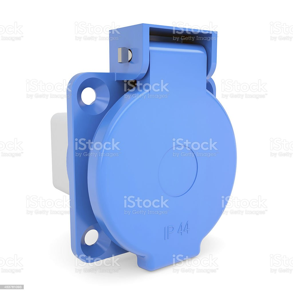 Industrial socket royalty-free stock photo