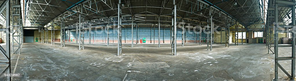 Industrial space panorama royalty-free stock photo