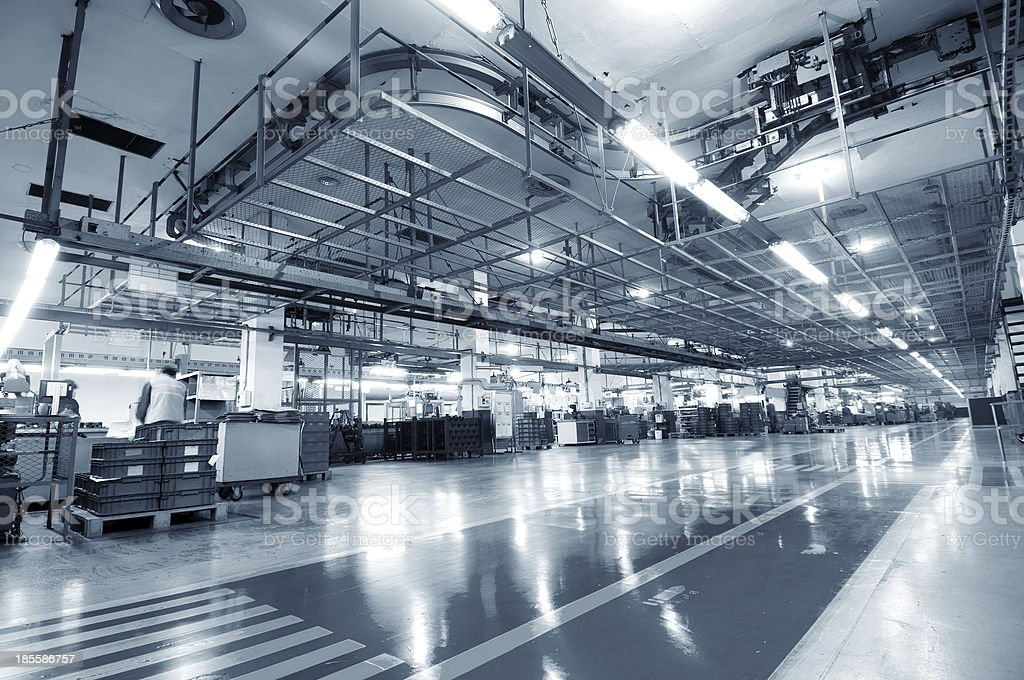 Industrial space stock photo