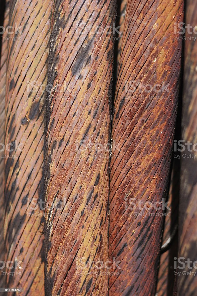 industrial steel dredging  cable royalty-free stock photo