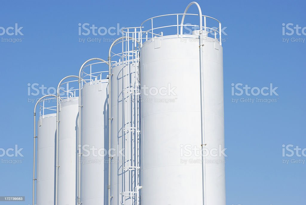 industrial steel tank royalty-free stock photo