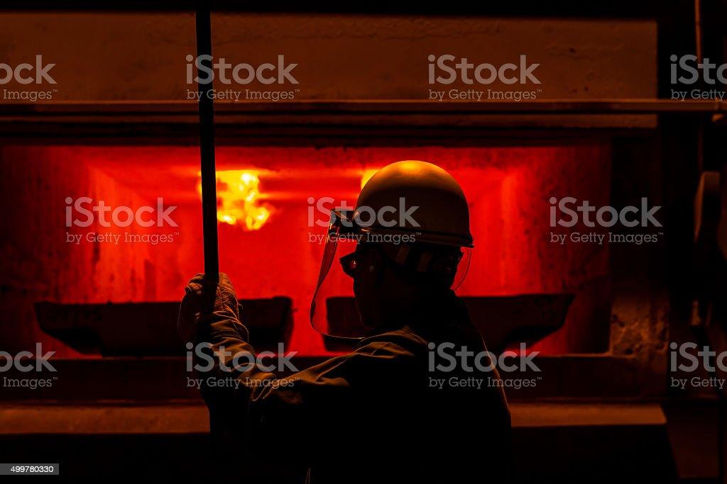 Industrial Steel Worker stock photo