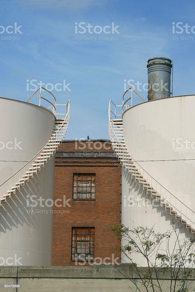 Industrial Storage Tanks, Industry, Dayton, Ohio royalty-free stock photo