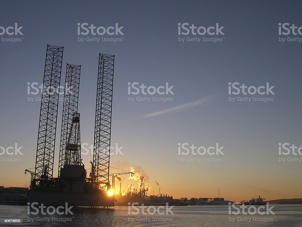 Industrial Sunrise royalty-free stock photo