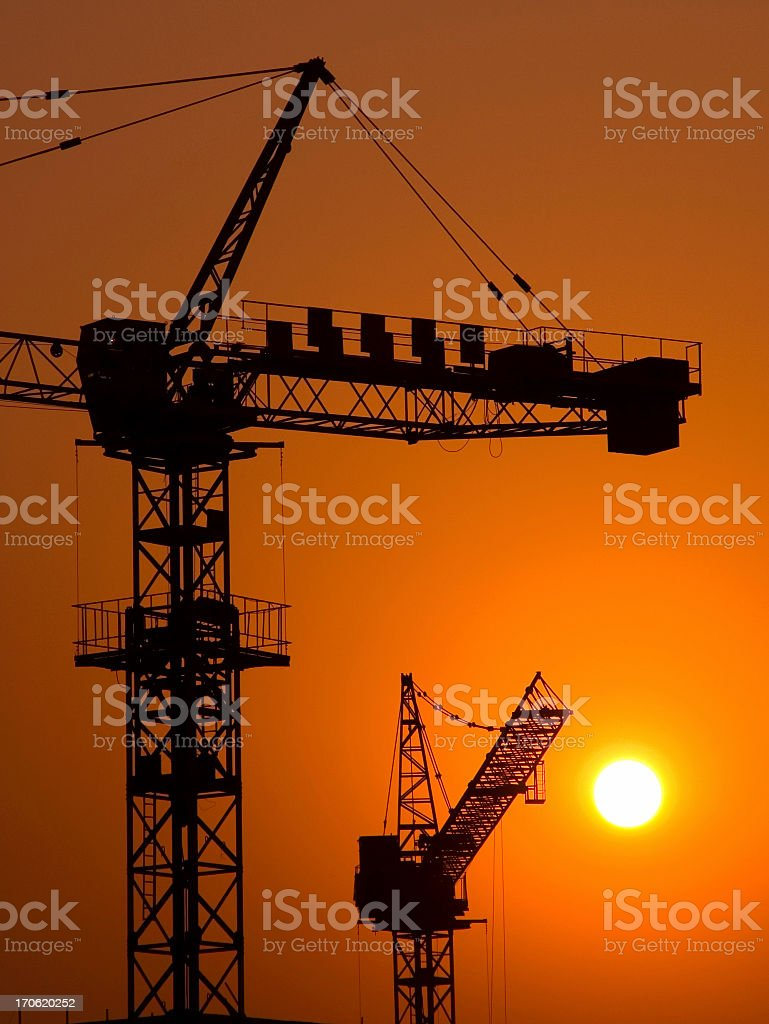 Industrial Sunset royalty-free stock photo