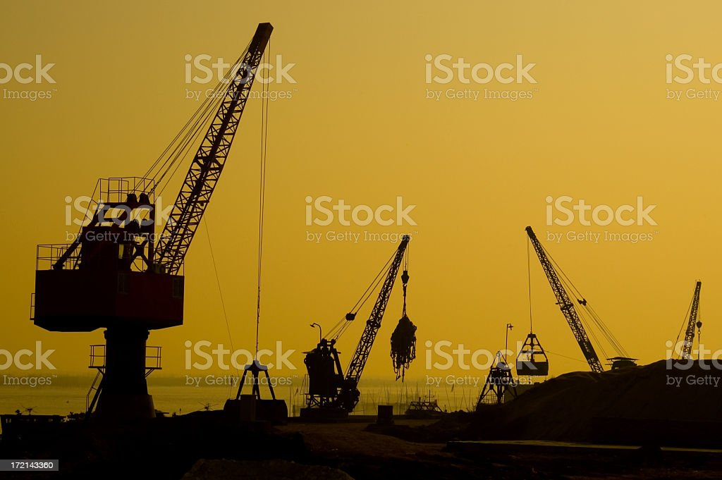 Industrial Sunset. royalty-free stock photo