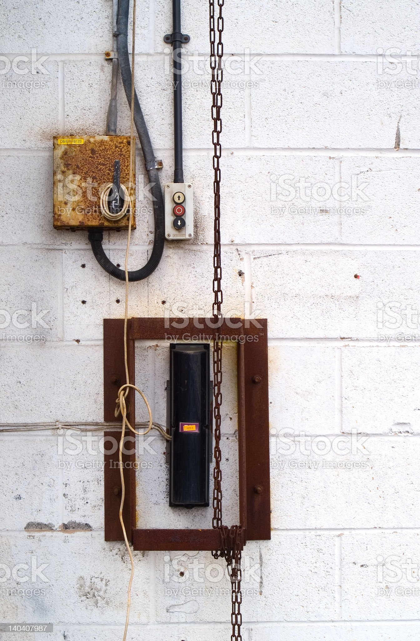 Industrial switch royalty-free stock photo