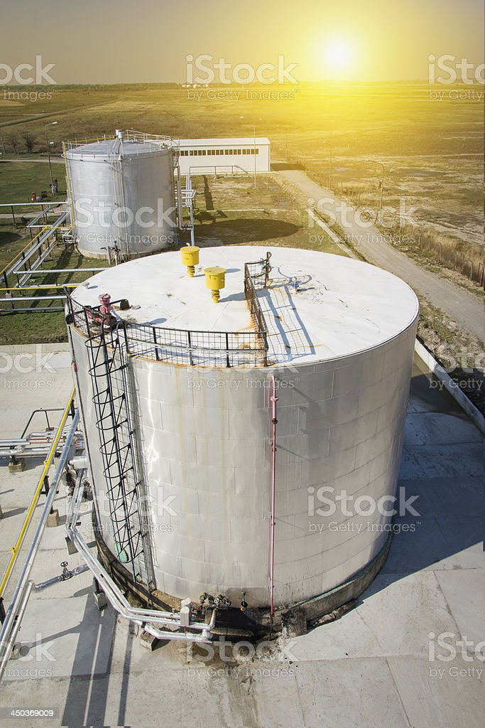 Industrial Tank stock photo
