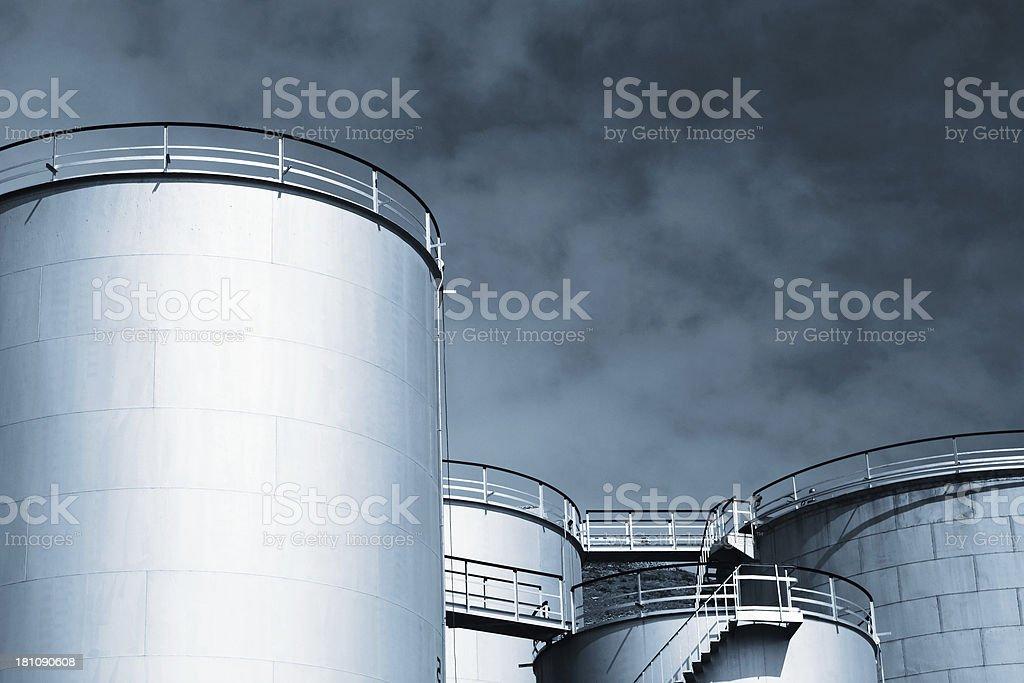 Industrial tanks stock photo