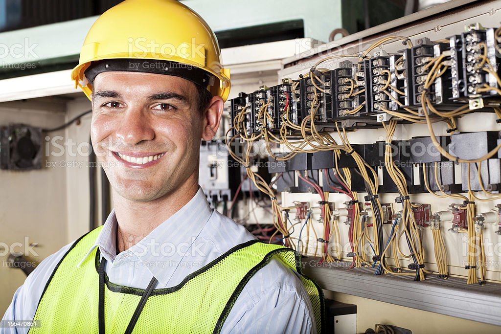 industrial technician stock photo