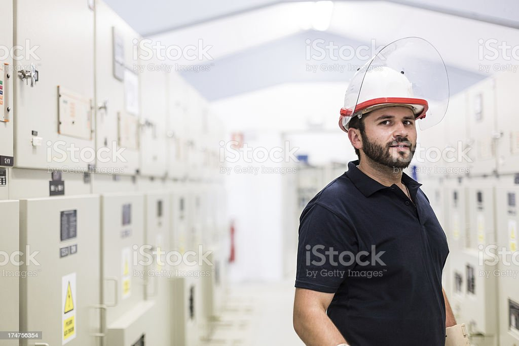 Industrial technician. royalty-free stock photo