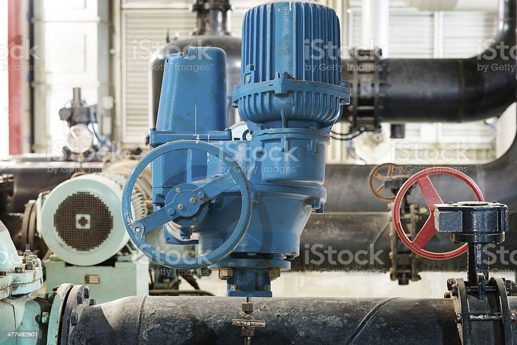 industrial thermometer in boiler room royalty-free stock photo