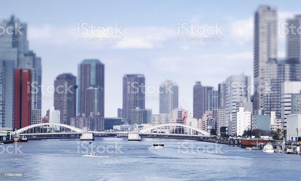 Industrial Tokyo stock photo