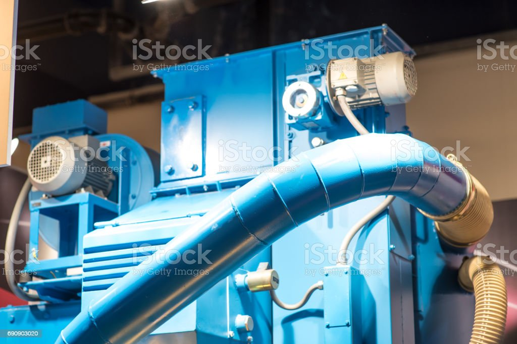 industrial tool for cutting installed in machining center equipment stock photo