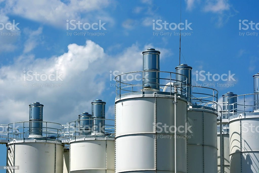 Industrial towers royalty-free stock photo
