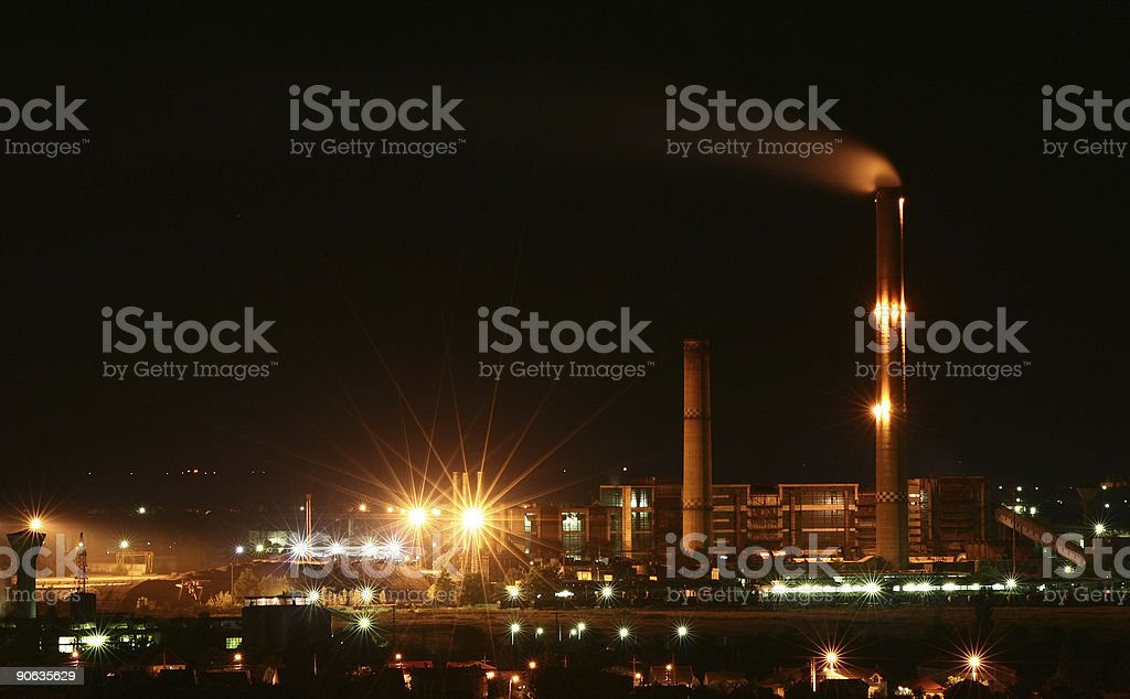 Industrial town royalty-free stock photo
