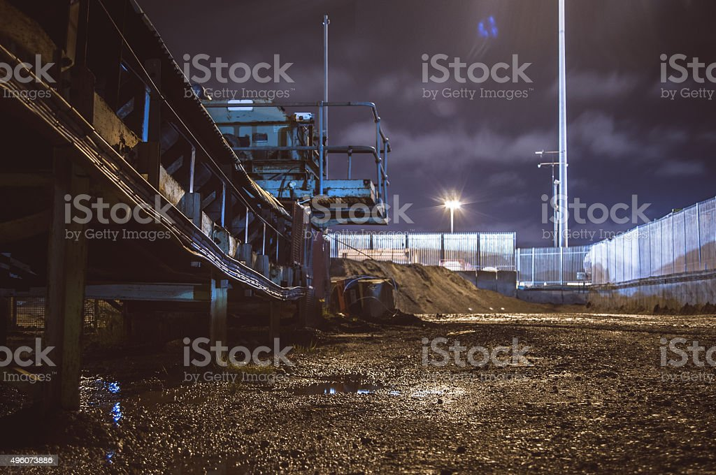 Industrial tranquility stock photo