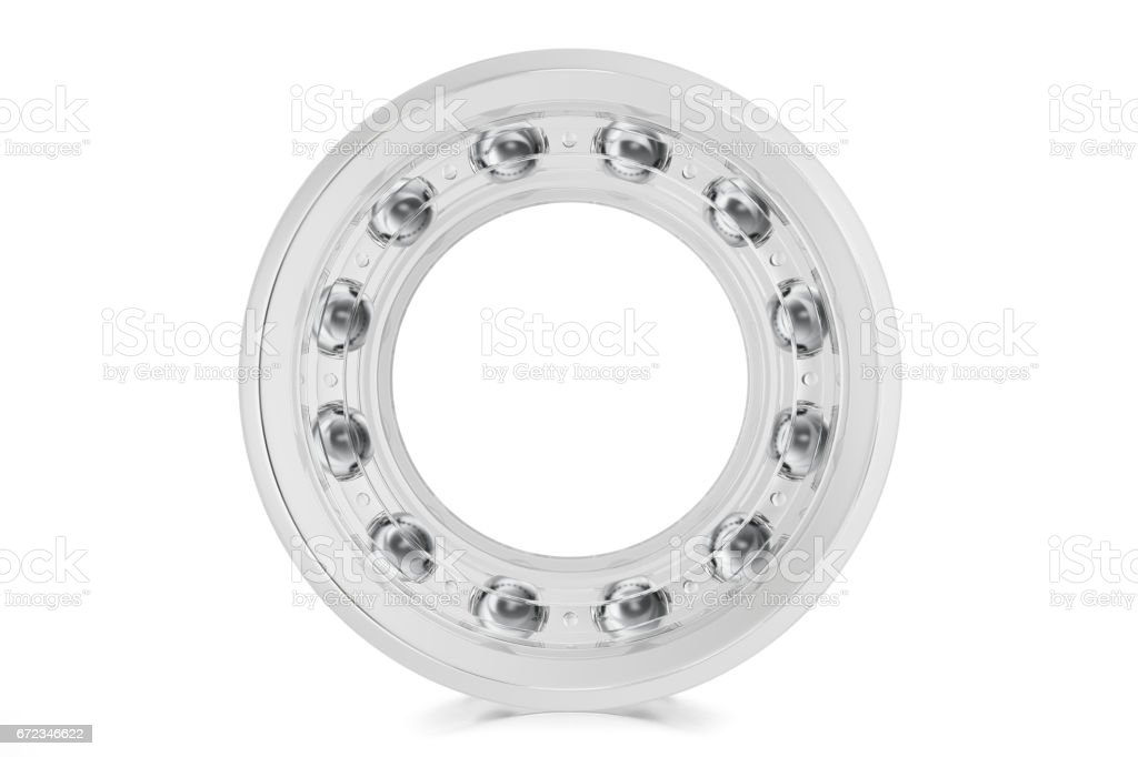 Industrial transparent bearings on a white background , 3d rendering. stock photo