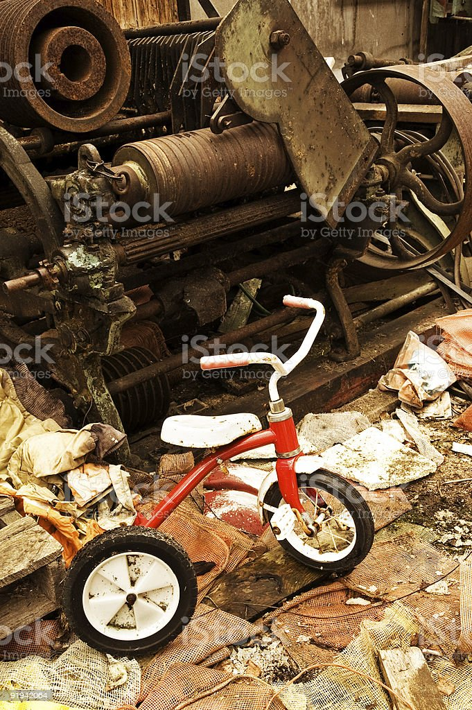 Industrial Tricycle stock photo