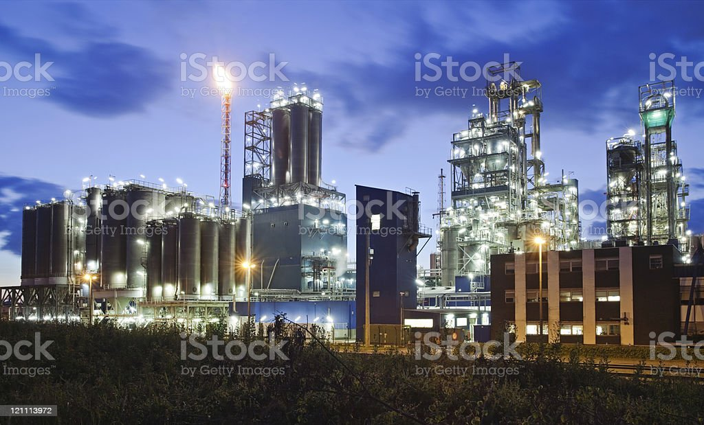 Industrial twilight royalty-free stock photo