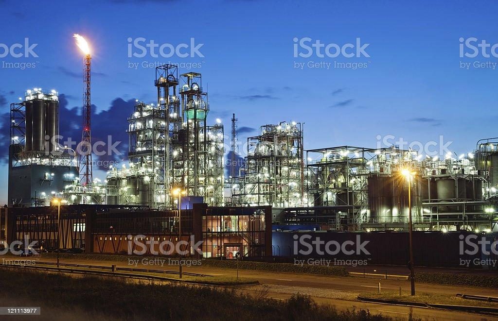 Industrial twilight stock photo