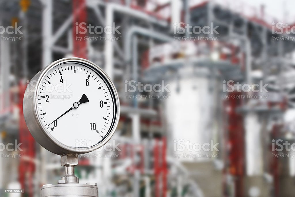 Industrial unit of heating system stock photo