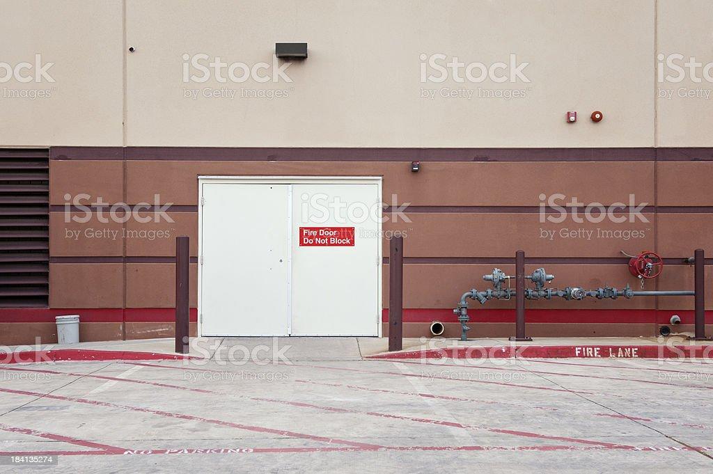 Industrial Utility Door stock photo