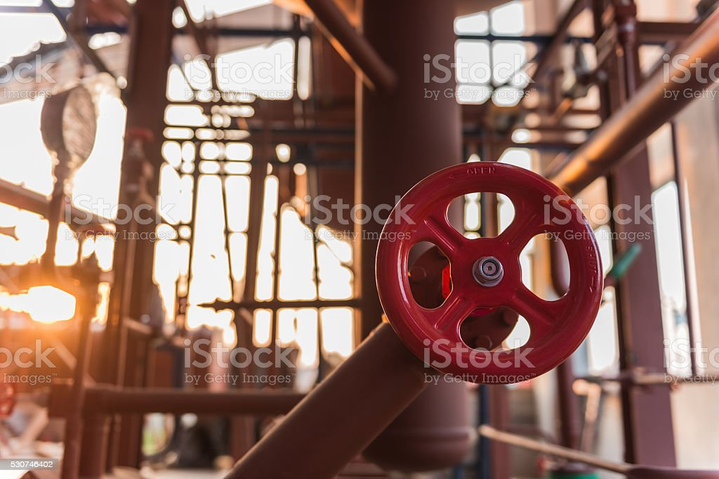 Industrial valve stock photo