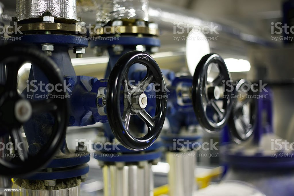 Industrial valves stock photo