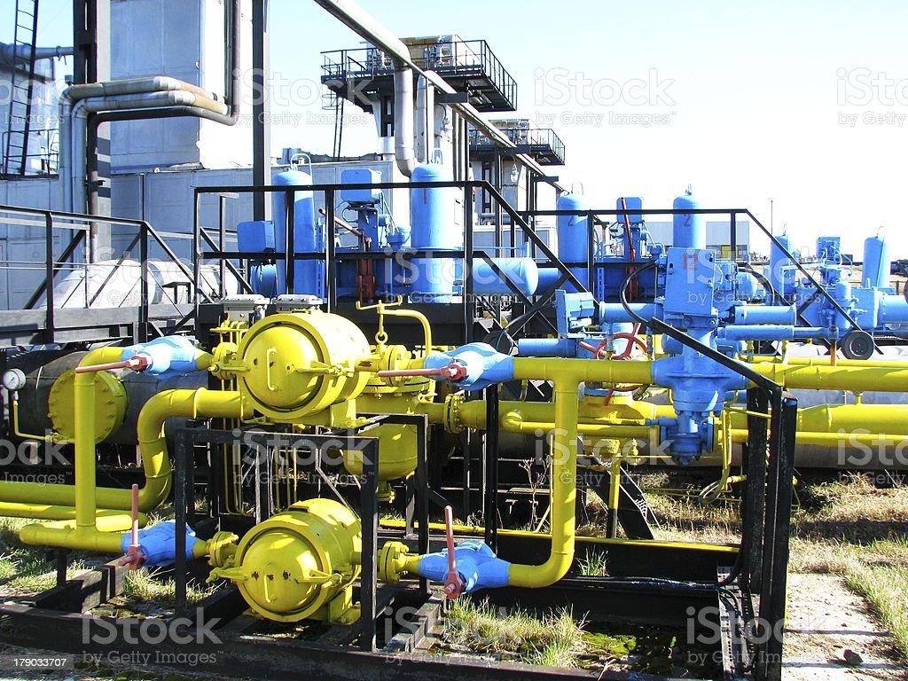 Industrial valve-ventil-regulator unit royalty-free stock photo