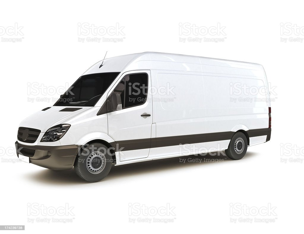 Industrial van on a white background stock photo
