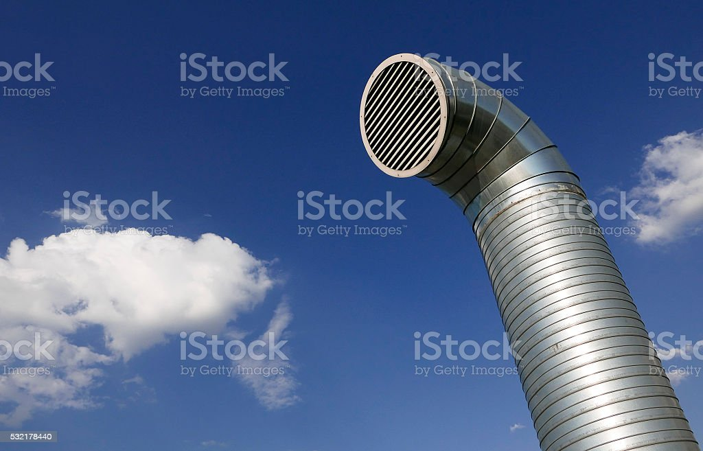 industrial ventilation pipe stock photo