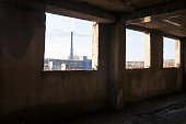 Industrial view from the abandoned building.