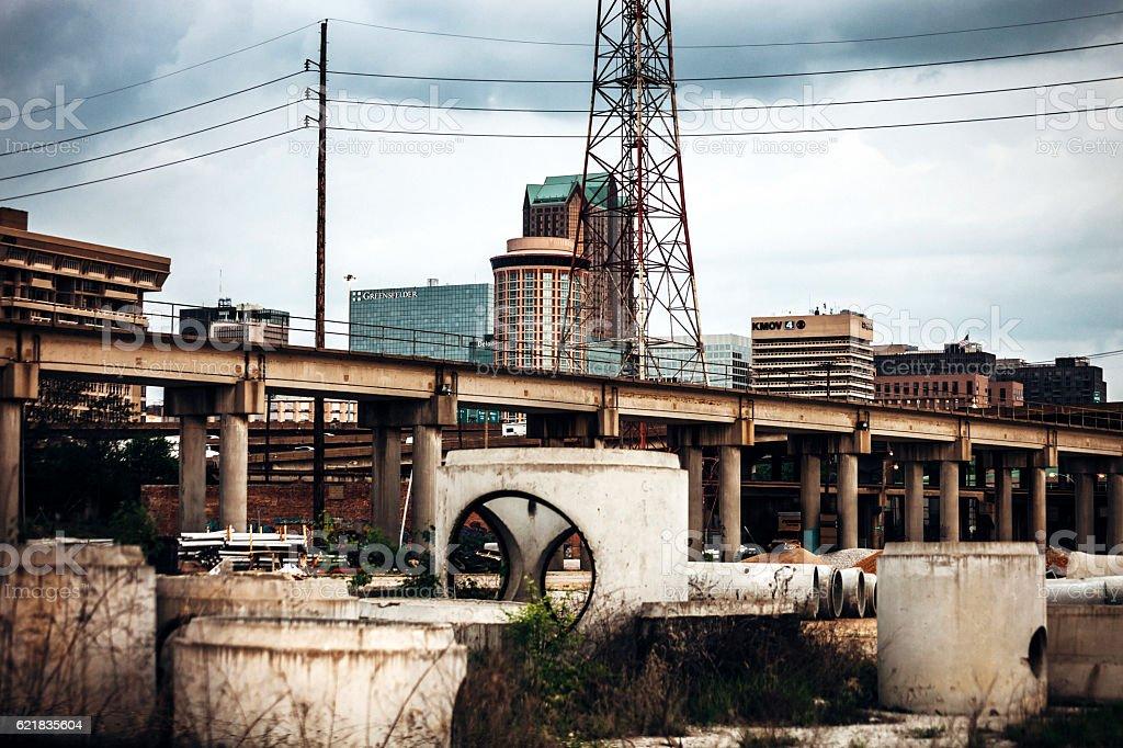 Industrial view to St Louis, Missouri. stock photo