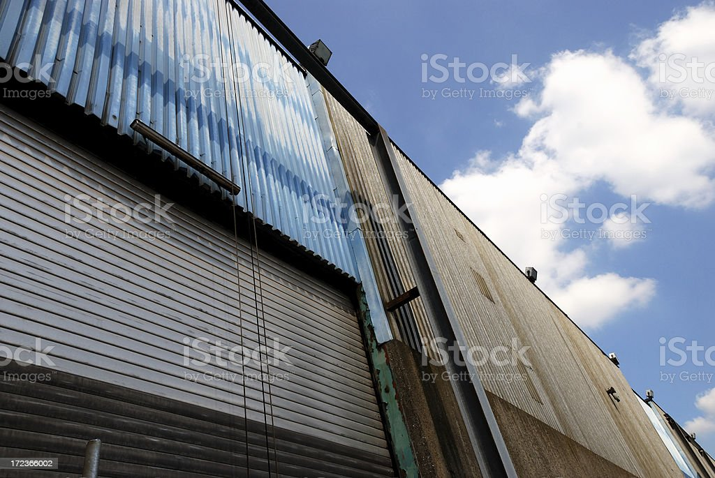 industrial walls royalty-free stock photo