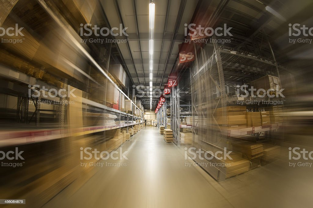 Industrial warehouse rapid progress stock photo