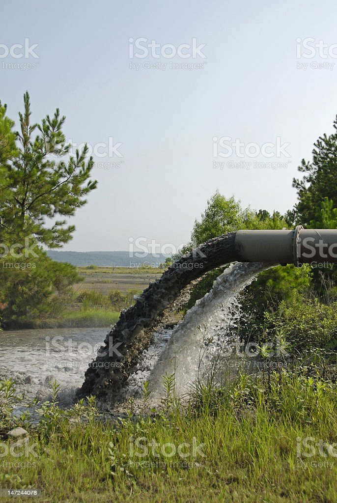 Industrial Waste Discharge royalty-free stock photo