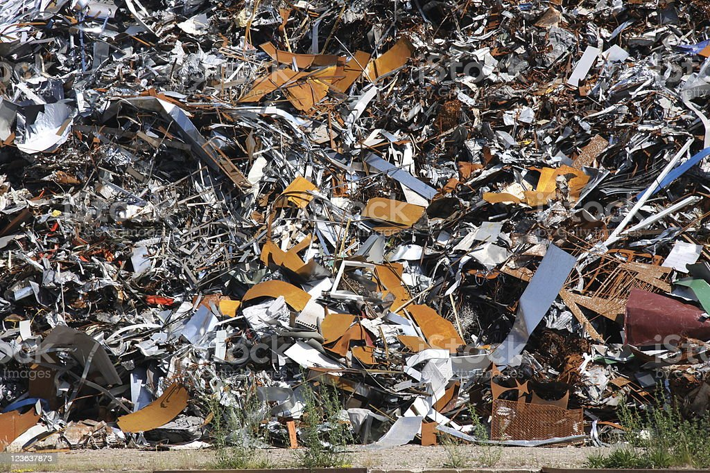 industrial waste metal scrap royalty-free stock photo