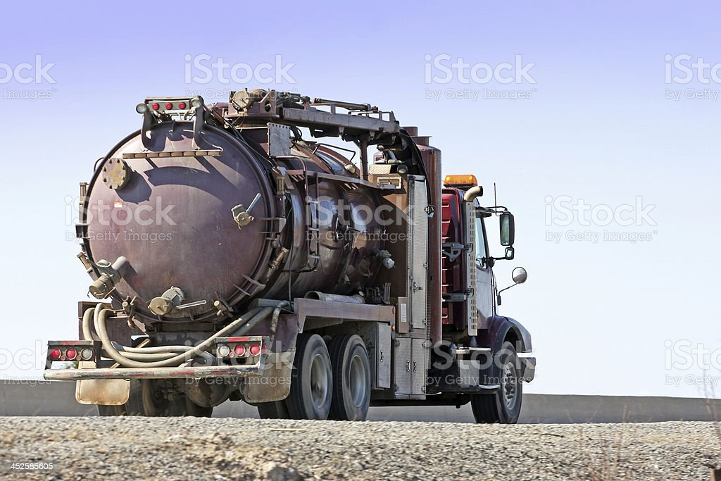 Industrial Waste Pump Truck stock photo