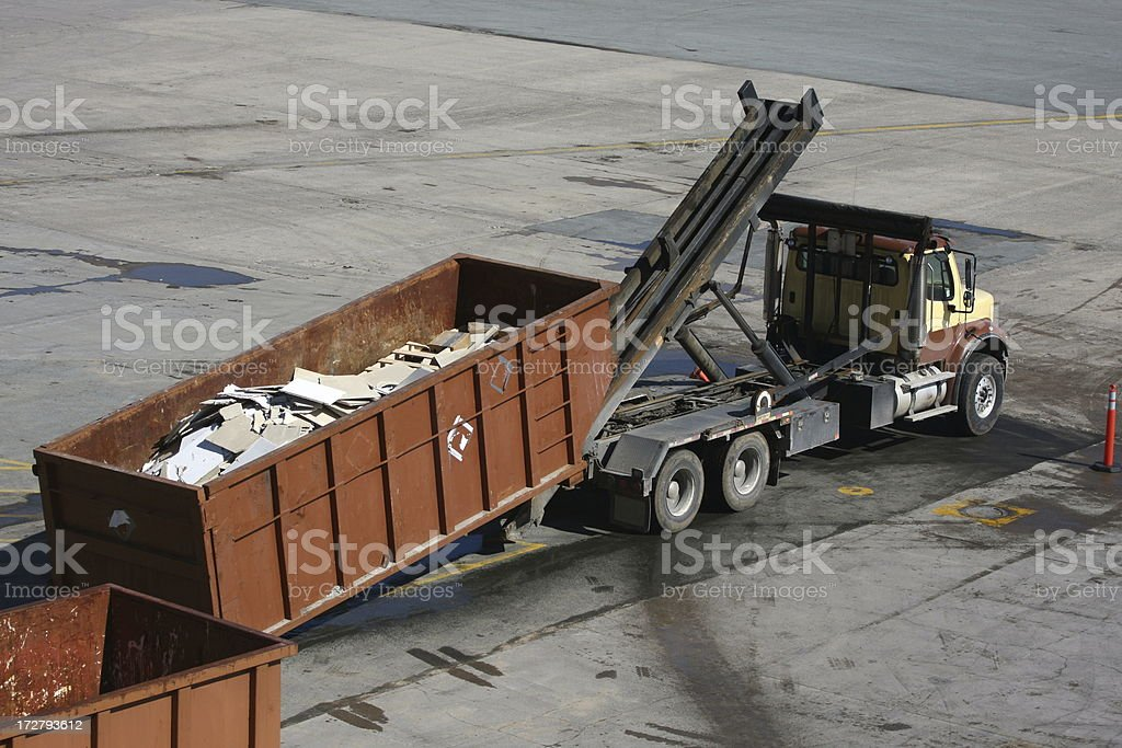 Industrial Waste Removal stock photo