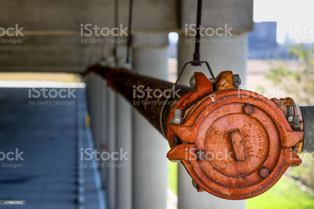 Industrial Water Pipe stock photo