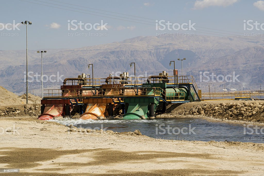 Industrial water pump station royalty-free stock photo