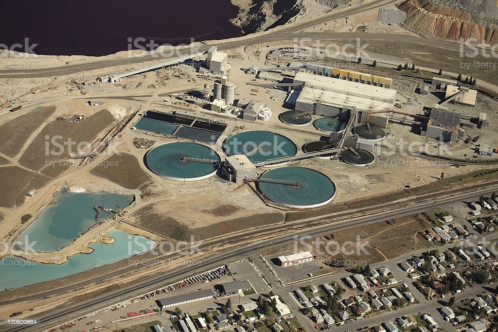 Industrial water treatment stock photo