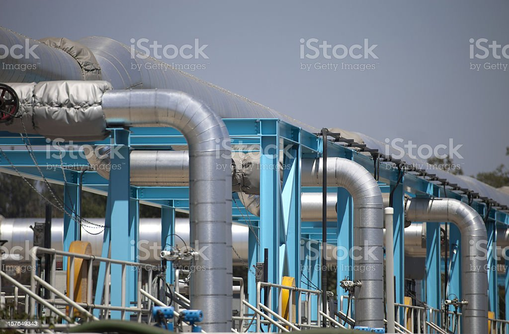 Industrial Water treatment Plant royalty-free stock photo