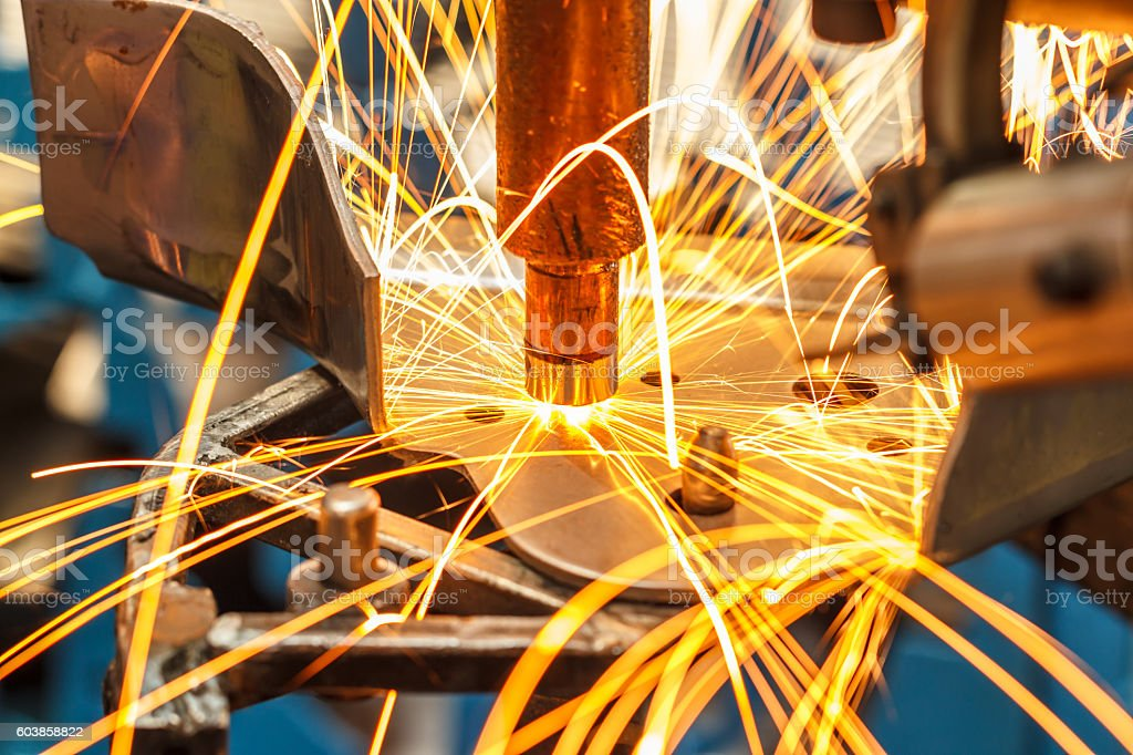 Industrial welding automotive in thailand stock photo