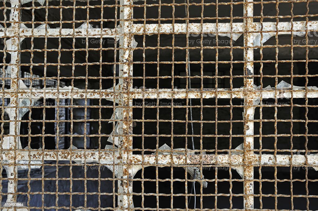 industrial window wire mesh royalty-free stock photo