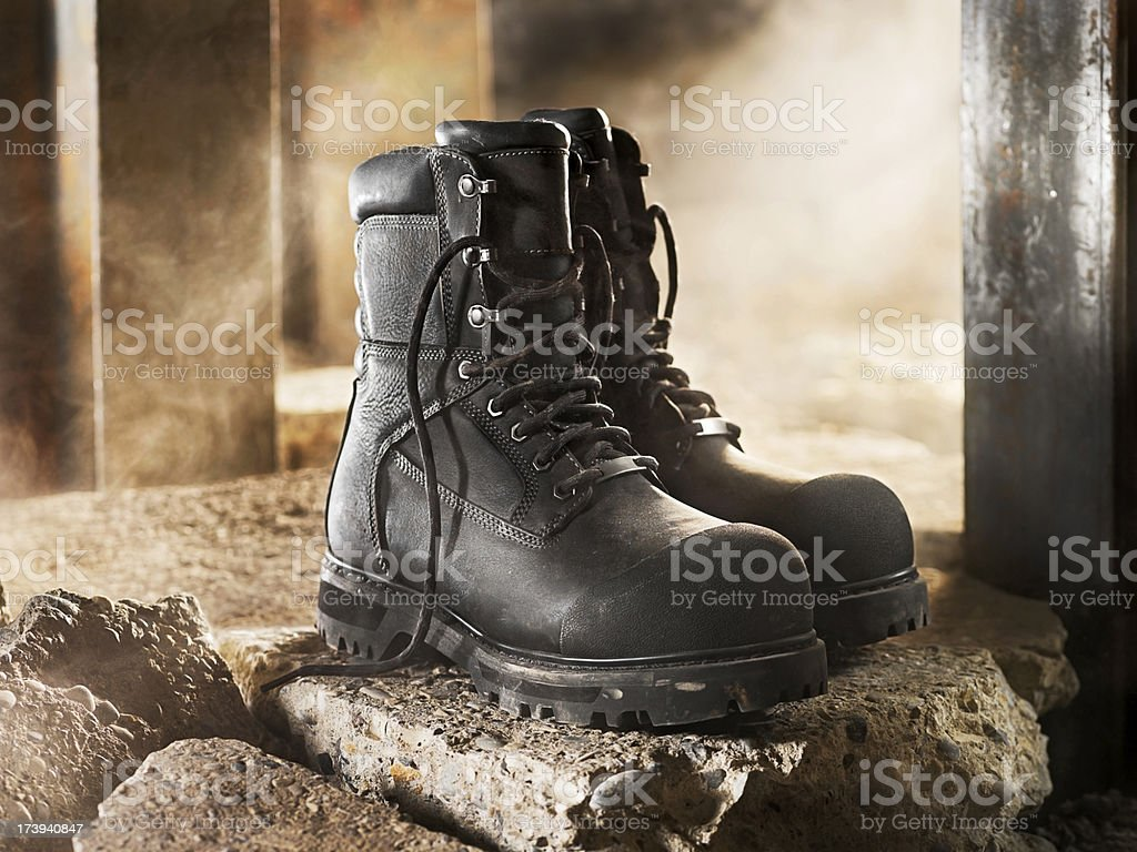 Industrial Work Boots stock photo