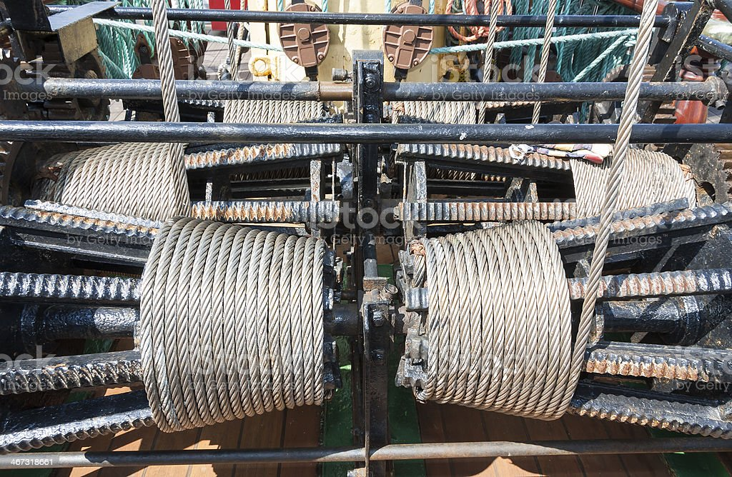 Industrial work tool with metal cord royalty-free stock photo